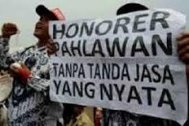 guru honor unjuk rasa (sumber: goriau.com)
