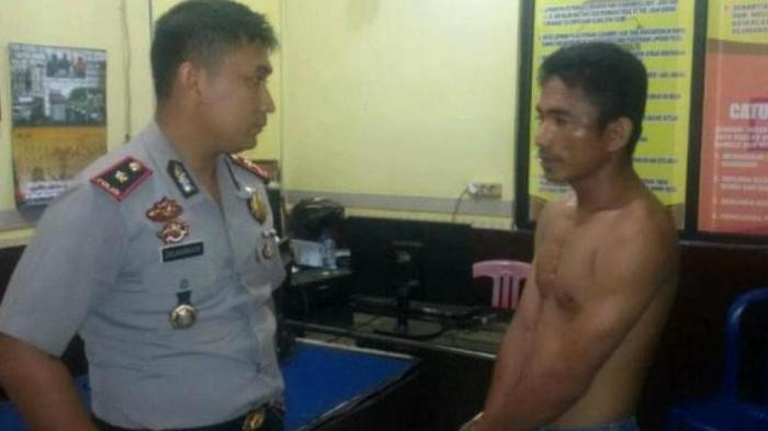 Karena kesalahan sopir ini meninju wajah salah satu anggota polisi yang sementara melakukan operasi