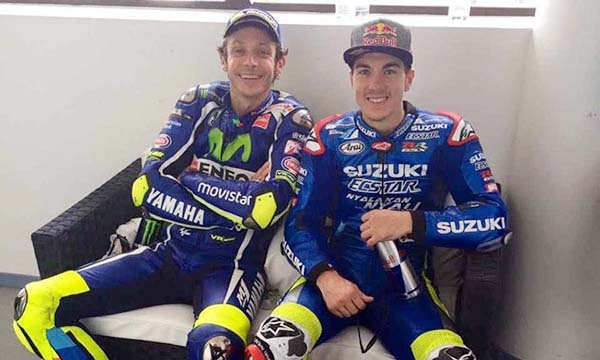 Vinales bersama sang legenda moto GP, Valentino Rossi