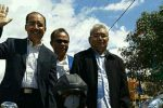Jefri Riwu Kore (FirmanMu) balon Walikota dan Wakil Walikota Kupang saat mendaftar di KPU Kota Kupang