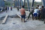Jembatan Maiskolen yang menghubungkan jalur selatan TTS rusak parah