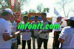 Kegiatan promosi pariwisata NTT oleh Pemuda Revolusi Rote Ndao (PRRN) di hari Car Free Day, Sabtu (13/8).